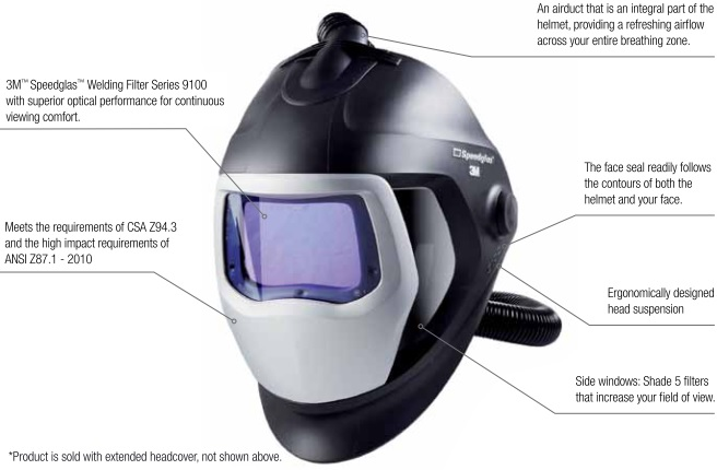 3M Speedglas 25-5702-10SW Welding Respirator Features The V-100 Vortex Air Cooling Valve