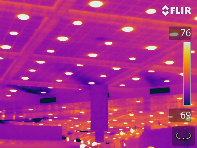 Recessed Lights - FLIR T640 Infrared Image