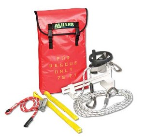 Miller SEHWLB/275FT SafEscape Elite RDD w/Hoist Wheel & Ladder Bracket 275ft