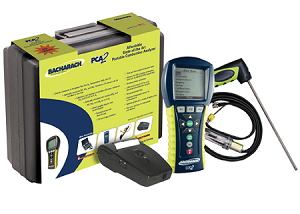 Bacharach 24-8451 PCA 3 PCA3 265 Combustion Analyzer Kit (with O2, CO/H2-compensated, NO, NO2 measurement) w/printer