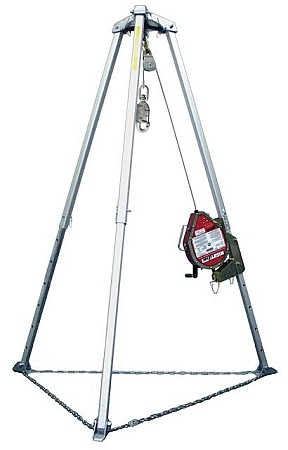 Miller MR100GC/100FT MightEvac Galvanized Lifeline with Tripod