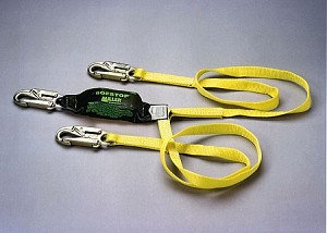 Miller 8878-6/6FTYL Two Legged Adjustable Web SofStop Lanyard