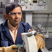 Factory Worker using Honeywell Sperian A754 Slim Safety Eyewear