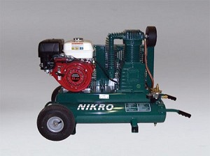 Nikro 860544 9HP Honda 2 Stage 175 PSI Portable Gasoline Compressor